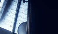 Violin In Dark Blue Presentation Template