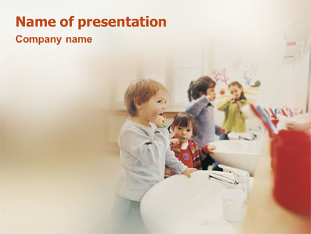 Oral Hygiene Presentation Template, Master Slide