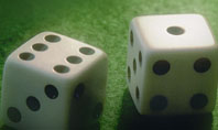 Dice On A Green Cloth Presentation Template