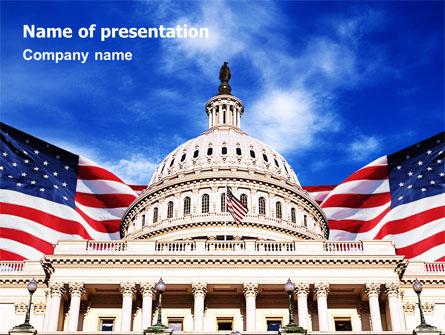 United States Capitol Building Presentation Template, Master Slide