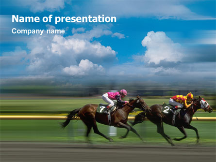 Horse Races Presentation Template For Powerpoint And Keynote Ppt Star