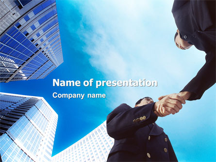 business meeting outdoor presentation template for powerpoint and