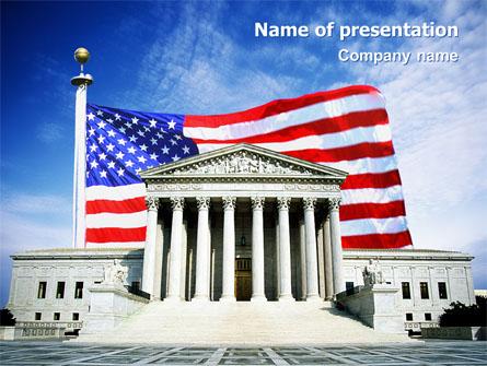 Supreme Court Presentation Template, Master Slide