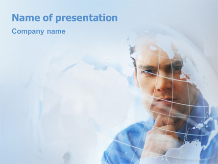 Look At The World Presentation Template, Master Slide