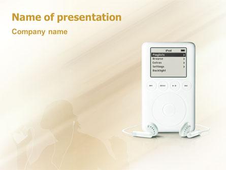 Mp3 Player Presentation Template, Master Slide