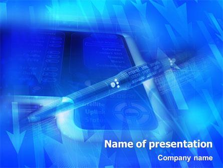 High Tech Digital Pen Presentation Template For Powerpoint