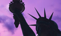 Statue of Liberty With American Flag Presentation Template