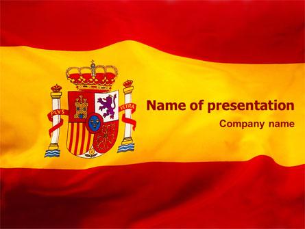 spanish flag presentation template for powerpoint and keynote, Presentation templates