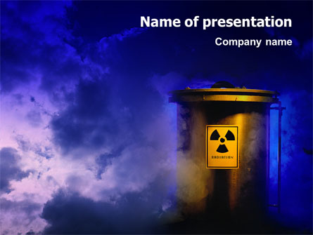 nuclear waste presentation template for powerpoint and keynote, Powerpoint templates