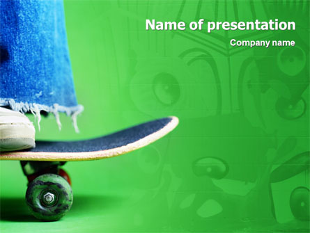 Skateboard Presentation Template, Master Slide