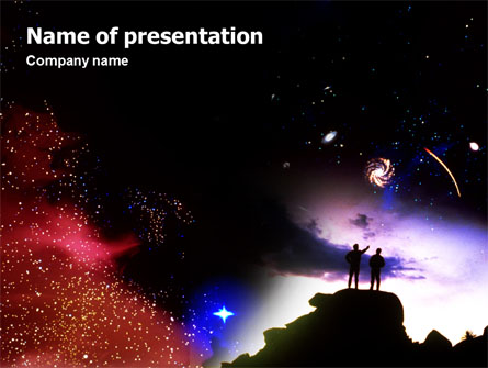 Astronomical research presentation template for powerpoint and astronomical research presentation template master slide toneelgroepblik Gallery