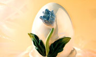 Easter Egg With Blue Flower Presentation Template