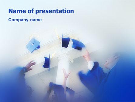 Graduation In Blue Colors Presentation Template, Master Slide