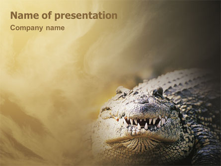 Crocodile Presentation Template, Master Slide