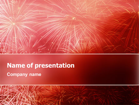 fireworks presentation template for powerpoint and keynote | ppt star, Presentation templates