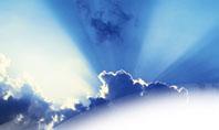 Blue Sky With Sunbeams Presentation Template