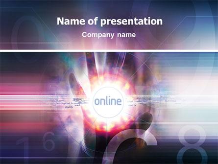 Online Services Presentation Template, Master Slide