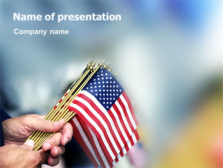 Usa Flag Presentation Template For Powerpoint And Keynote Ppt Star