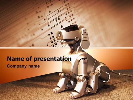 Robot dog presentation template for powerpoint and keynote ppt star robot dog presentation template master slide toneelgroepblik Image collections