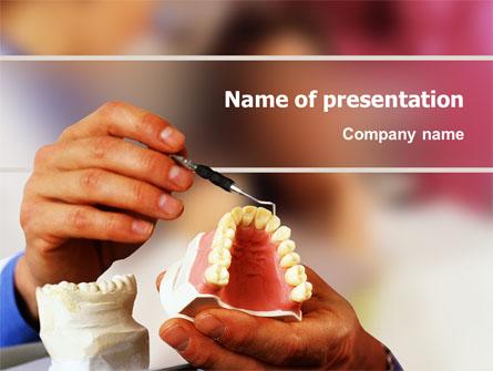 Denture Presentation Template, Master Slide