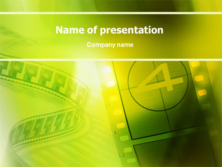 Film Strip In Light Yellow Green Colors Presentation Template for ...
