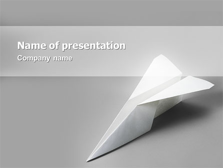 Paper Airplane Presentation Template For Powerpoint And Keynote