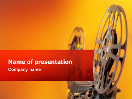 film projector presentation template for powerpoint and keynote, Presentation templates