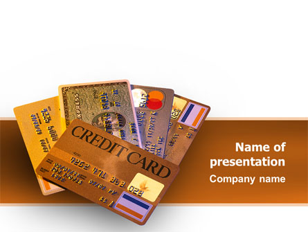 plastic credit card presentation template master slide - Plastic Credit Card