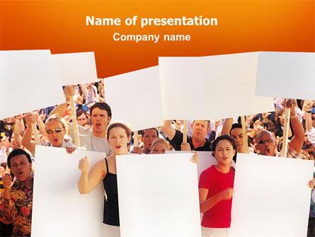 Protest Presentation Template, Master Slide