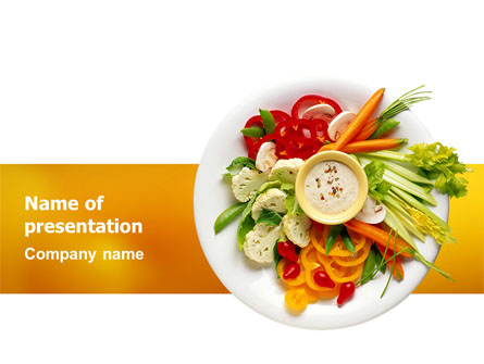 Vegetarian Food Presentation Template For Powerpoint And Keynote