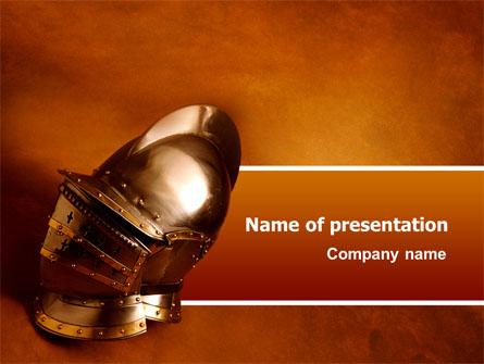 Knights helmet presentation template for powerpoint and keynote knights helmet presentation template master slide toneelgroepblik Choice Image