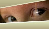 children's eyes Presentation Template