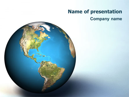 Animated Earth Presentation Template, Master Slide