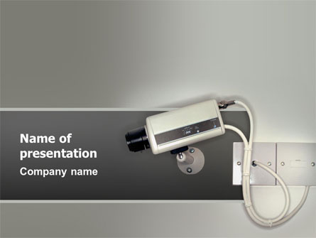 security camera presentation template for powerpoint and keynote, Presentation templates