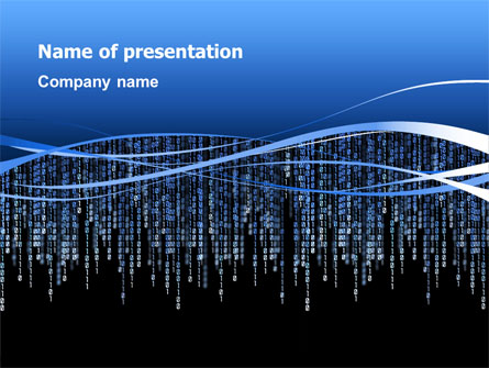 matrix theme presentation template for powerpoint and keynote, Modern powerpoint