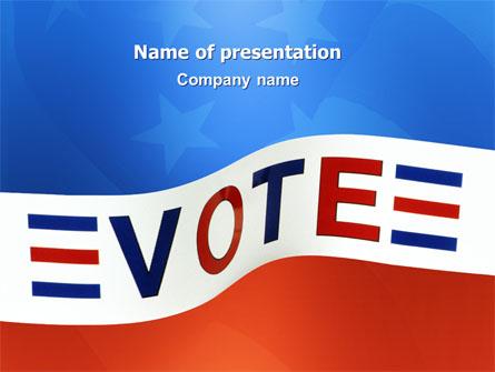 Vote Presentation Template, Master Slide