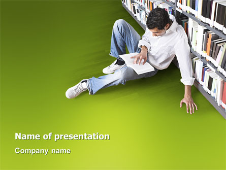 Self-education Presentation Template, Master Slide