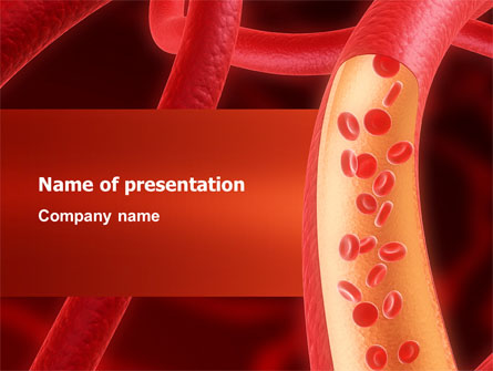 red blood cells presentation template for powerpoint and keynote ppt