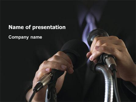 Speech Presentation Template, Master Slide