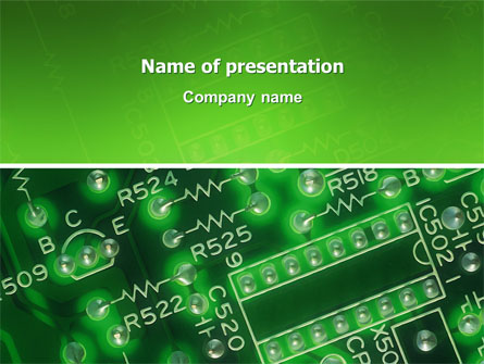 Integrated Circuit Presentation Theme Point Templates
