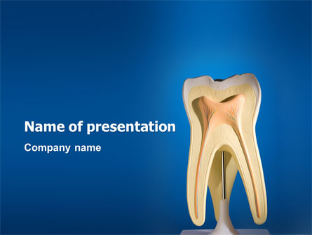 Tooth Presentation Template, Master Slide