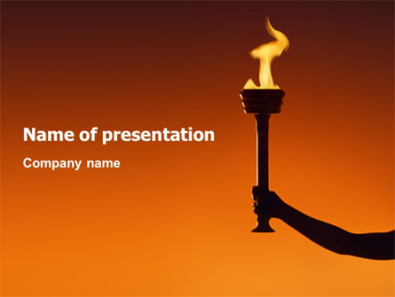 olympic torch presentation template for powerpoint and keynote ppt