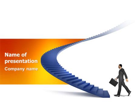 Career Rising Presentation Template, Master Slide