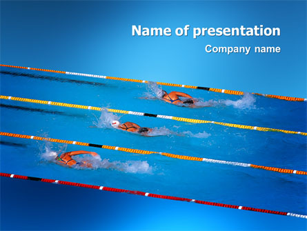 Swimming Competition Presentation Template for PowerPoint ...