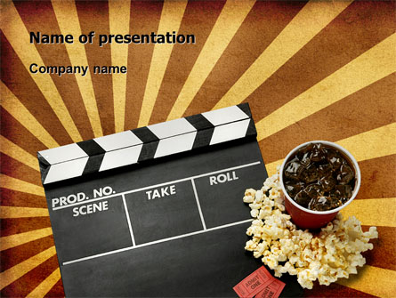 films and cinema presentation template for powerpoint and keynote, Presentation templates