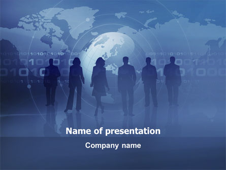 People Silhouettes Presentation Template, Master Slide