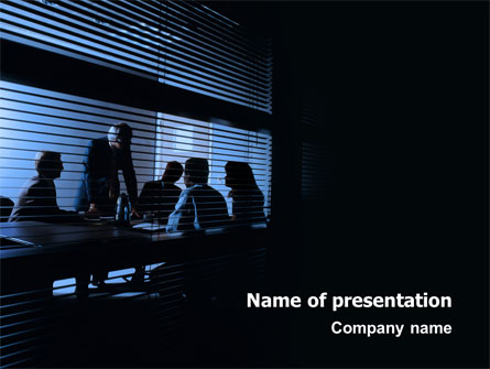 Presentation At The Business Meeting Room Presentation Template, Master Slide
