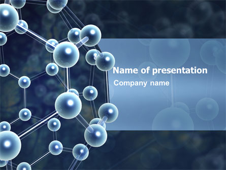 molecular structure presentation template for powerpoint and keynote