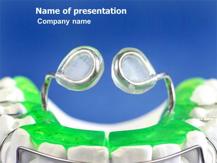 Teeth Braces Presentation Template, Master Slide