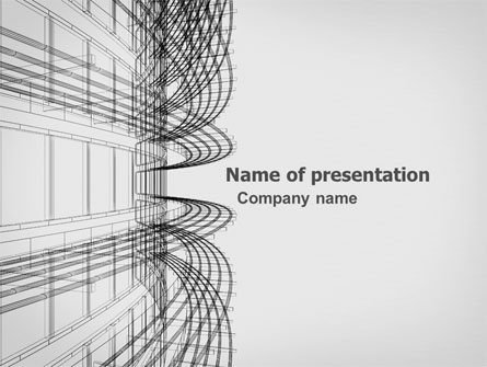 3d architecture projecting presentation template for powerpoint and